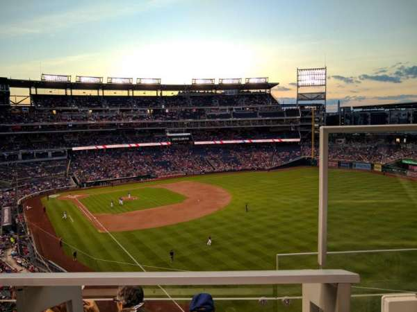 Nationals Park, secção: 230, fila: D, lugar: 1