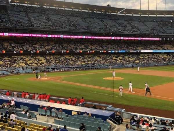 Dodger Stadium, secção: 142LG, fila: F, lugar: 8