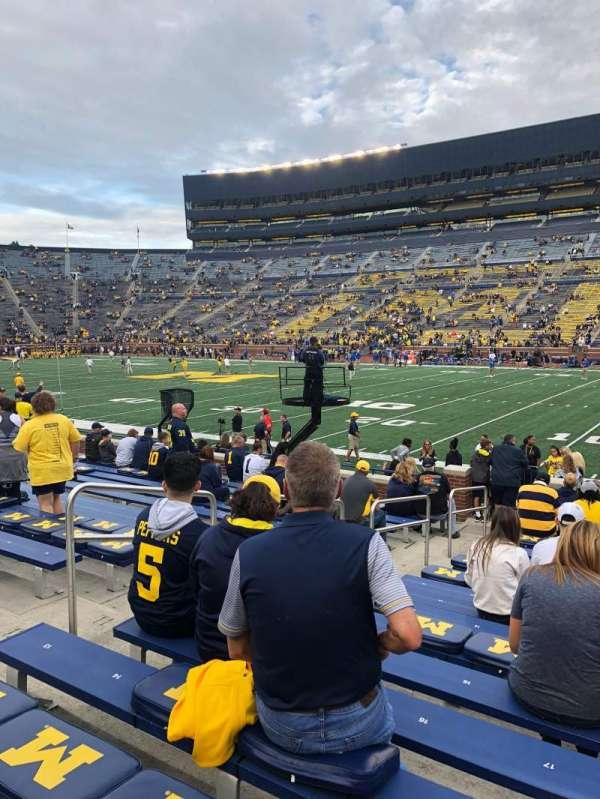 Michigan Stadium, secção: 20, fila: 16, lugar: 17