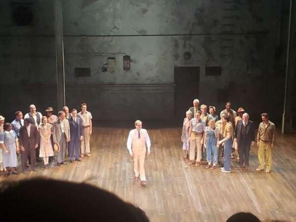 Shubert Theatre, secção: Mezzanine C, fila: B, lugar: 108