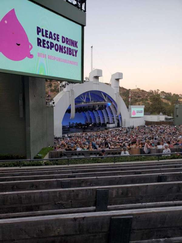 Hollywood Bowl, secção: K3, fila: 8, lugar: 25