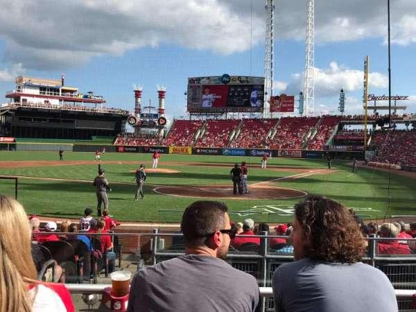 Great American Ball Park, secção: 121, fila: O, lugar: 5
