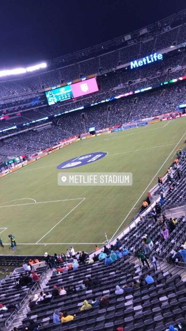 MetLife Stadium, secção: 246a, fila: 1, lugar: 10