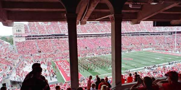 Ohio Stadium, secção: 26B, fila: 9, lugar: 29-31