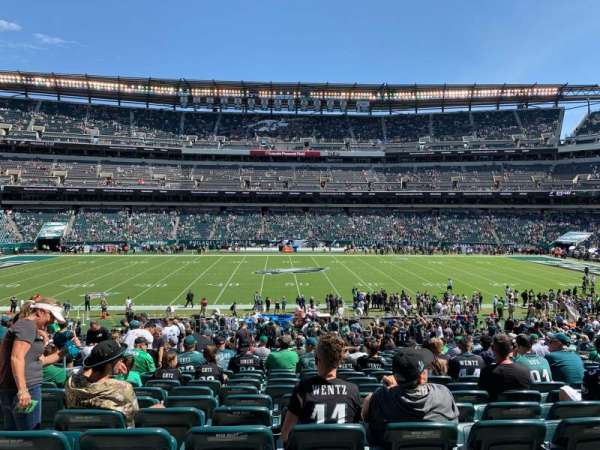 Lincoln Financial Field, secção: 101, fila: 35, lugar: 8