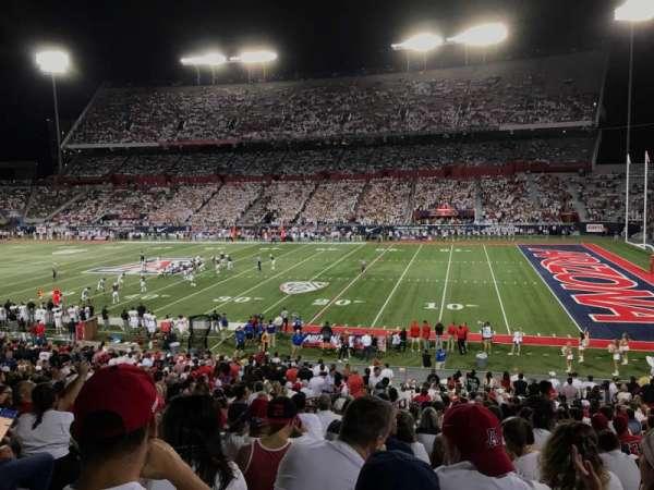 Arizona Stadium, secção: 18, fila: 35, lugar: 20