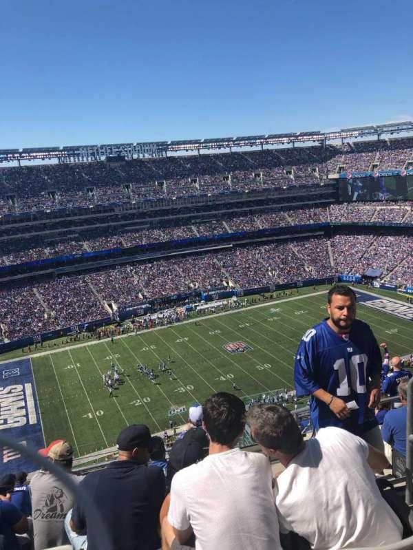 MetLife Stadium, secção: 317, fila: 17, lugar: 3