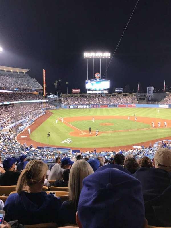 Dodger Stadium, secção: 112LG, fila: L, lugar: 4