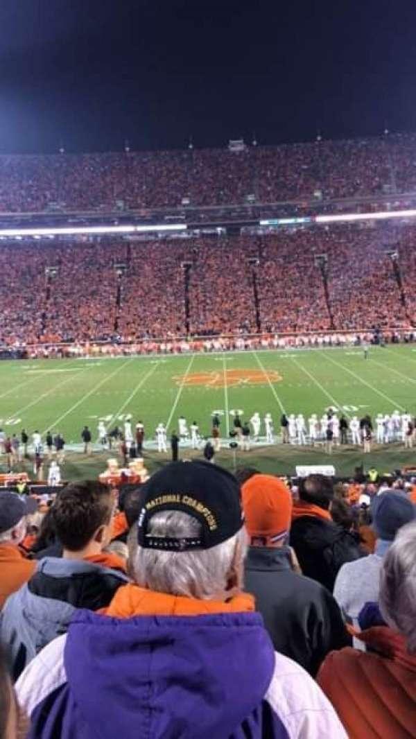 Memorial Stadium, Clemson, secção: O, fila: GG, lugar: 29