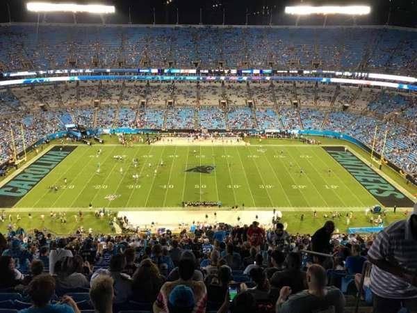 Bank of America Stadium, secção: 542, fila: 28, lugar: 4