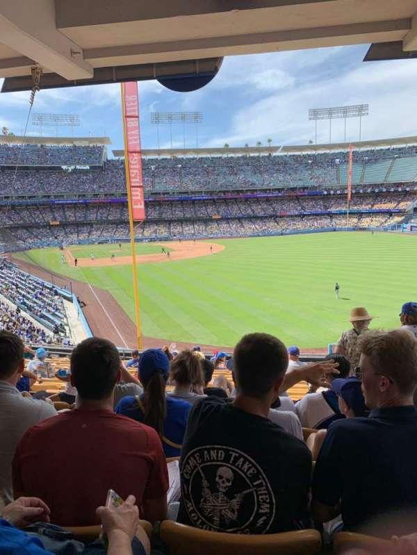 Dodger Stadium, secção: 166LG, fila: S, lugar: 19