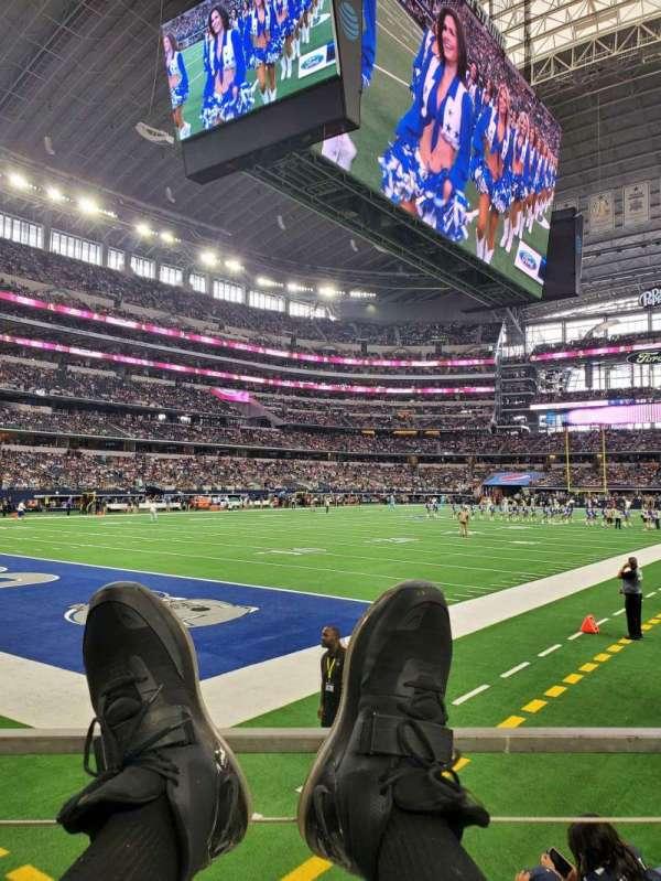 AT&T Stadium, secção: 120, fila: A, lugar: 1
