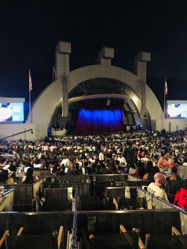 Hollywood Bowl, secção: Terrace Box 1863, lugar: Box 4