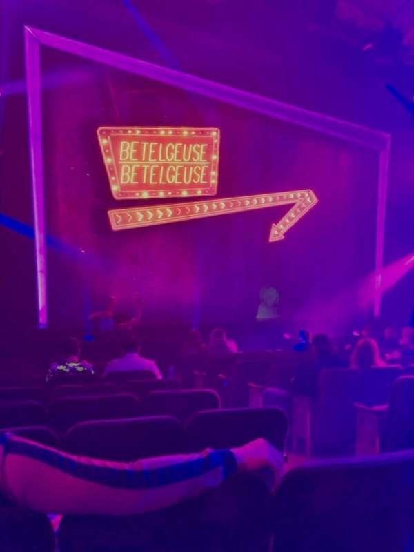 Winter Garden Theatre, secção: Orchestra L, fila: K, lugar: 5