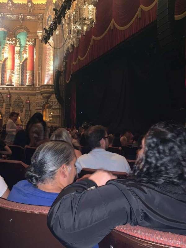 Fox Theatre (Detroit), secção: FP, fila: P, lugar: 608