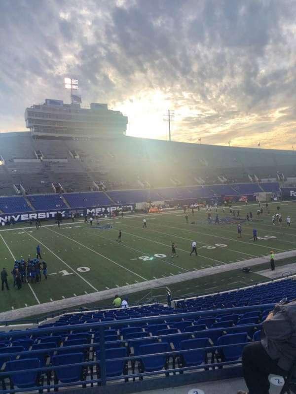 Liberty Bowl Memorial Stadium, secção: 123, fila: 28, lugar: 14