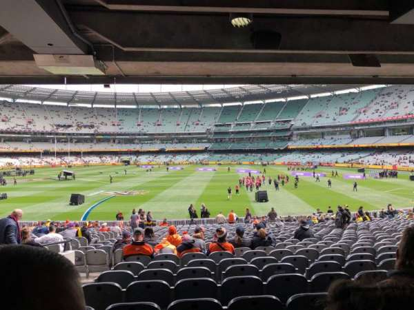 Melbourne Cricket Ground, secção: M9, fila: HH, lugar: 15