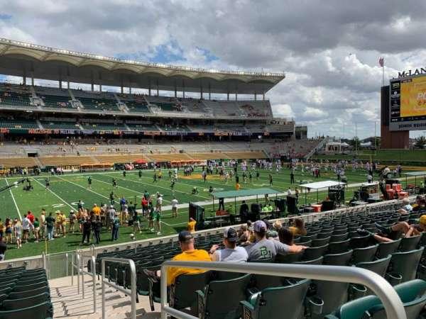 McLane Stadium, secção: 109, fila: 17, lugar: 1