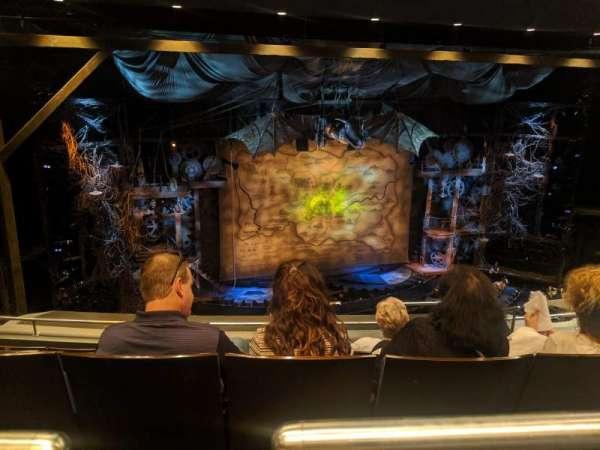 Gershwin Theatre, secção: Rear Mezzanine L, fila: F, lugar: 9