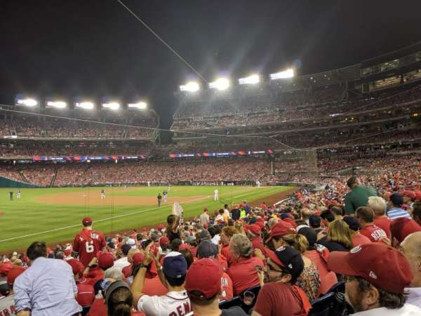 Nationals Park, secção: 110, fila: X, lugar: 1
