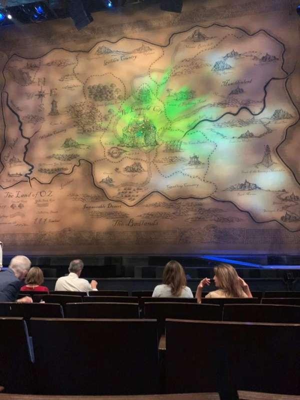 Gershwin Theatre, secção: Orchestra C, fila: B, lugar: 114
