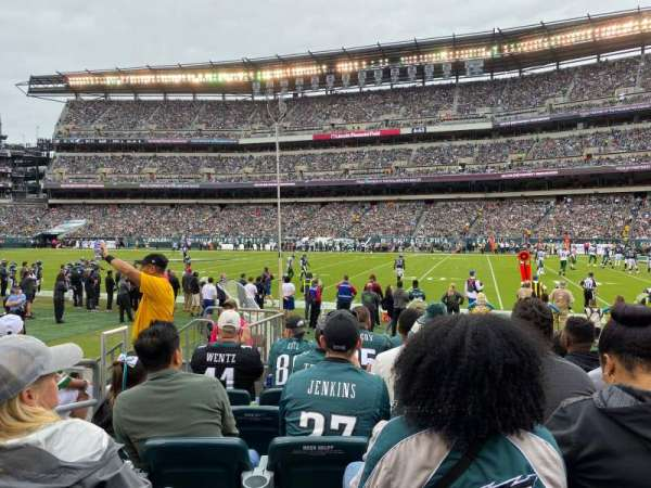 Lincoln Financial Field, secção: 104, fila: 6, lugar: 16