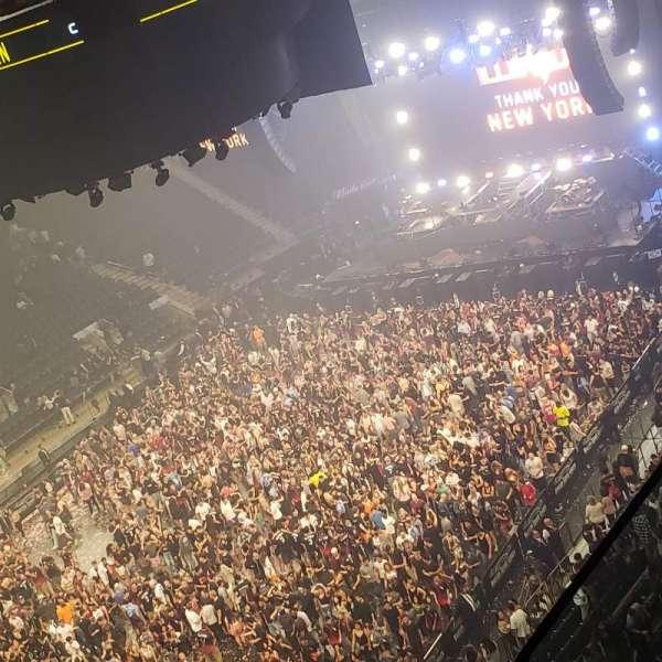 Madison Square Garden, secção: 310, fila: 2, lugar: 1