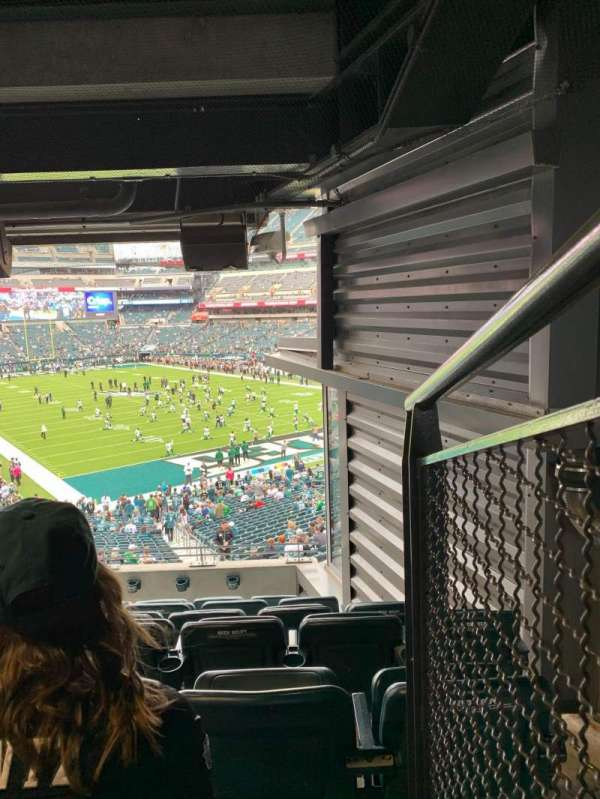 Lincoln Financial Field, secção: NE Terrace 1, fila: 7, lugar: 1