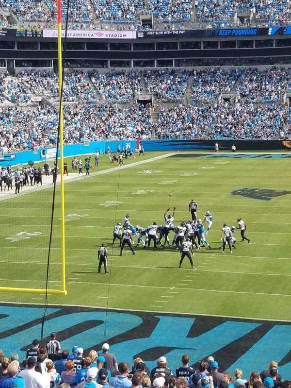 Bank of America Stadium, secção: 256, fila: 3, lugar: 11