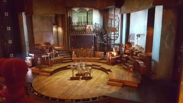 Walter Kerr Theatre, secção: Mezzanine R, fila: A, lugar: 2