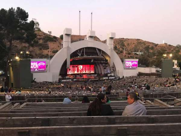 Hollywood Bowl, secção: K1, fila: 11, lugar: 18