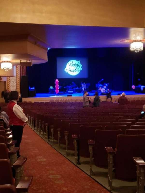 Genesee Theatre, secção: ORCHL, fila: CC, lugar: 1
