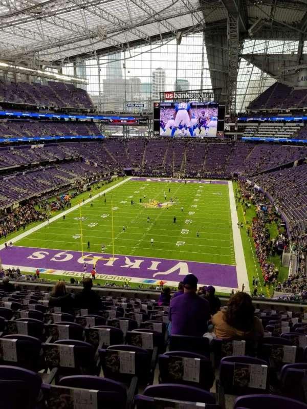 U.S. Bank Stadium, secção: 222, fila: 12, lugar: 8