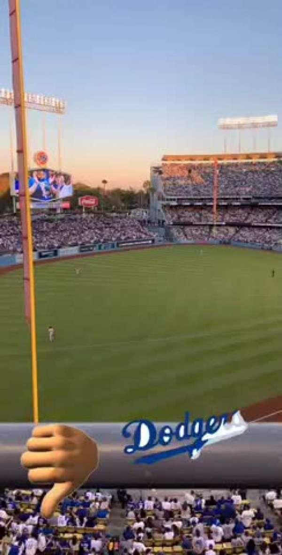 Dodger Stadium, secção: 47RS, fila: A, lugar: 6