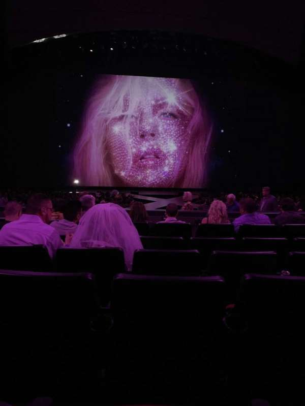 Zappos Theater, secção: 103, fila: F, lugar: 21