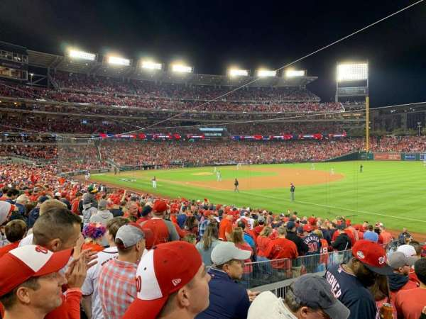 Nationals Park, secção: 134, fila: AA, lugar: 12