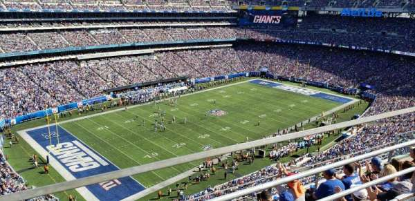 MetLife Stadium, secção: 344, fila: 5, lugar: 13