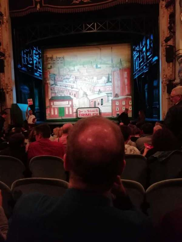 Wyndham's Theatre, secção: Stalls, fila: L, lugar: 11