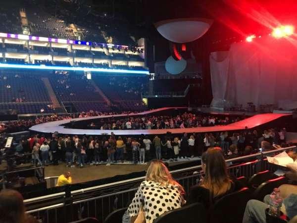 The O2 Arena, secção: 111, fila: L, lugar: 345