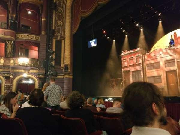 Palace Theatre (Manchester), secção: Stalls , fila: D, lugar: 14