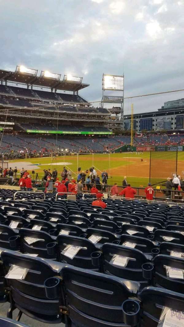 Nationals Park, secção: 131, fila: W, lugar: 5