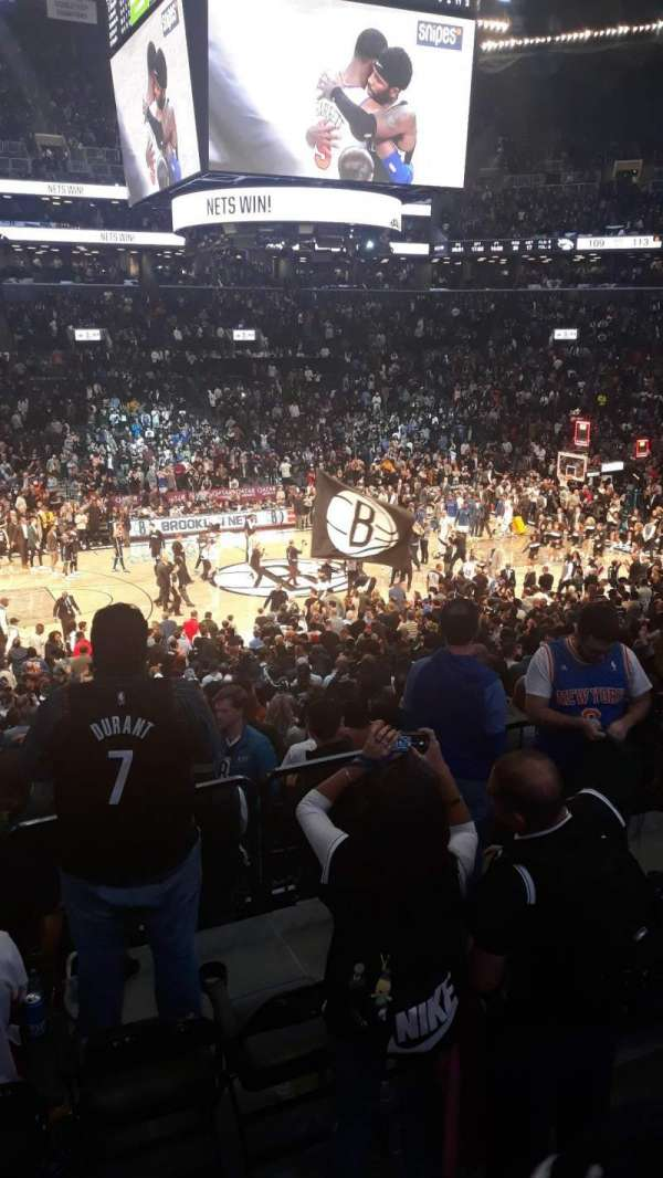 Barclays Center, secção: 125, fila: 4, lugar: 8