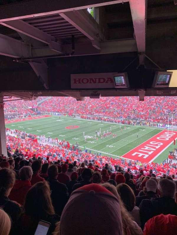 Ohio Stadium, secção: 12B, fila: 14, lugar: 3