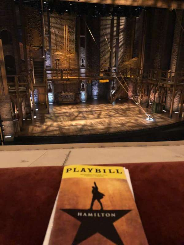 Forrest Theatre, secção: Front Mezzanine B, fila: A, lugar: 1