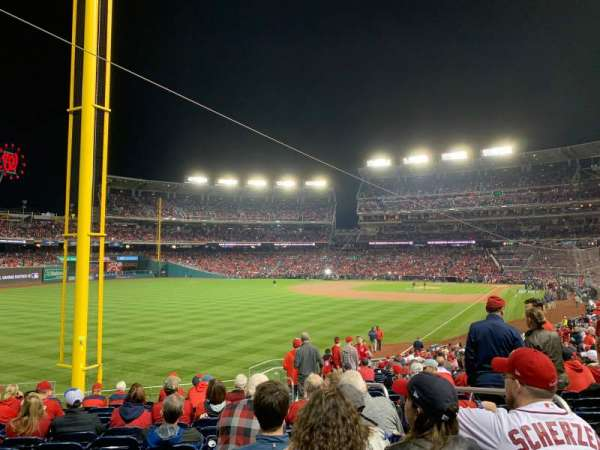 Nationals Park, secção: 107, fila: KK, lugar: 4
