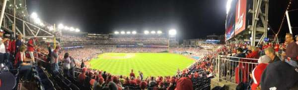 Nationals Park, secção: 239, fila: P, lugar: 16