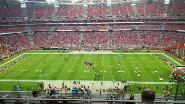 State Farm Stadium, secção: 412, fila: 3, lugar: 3