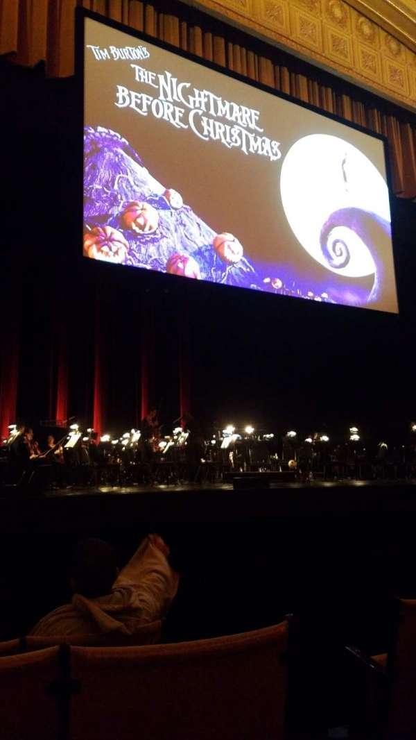 Auditorium Theatre, secção: Orch L, fila: F, lugar: 502