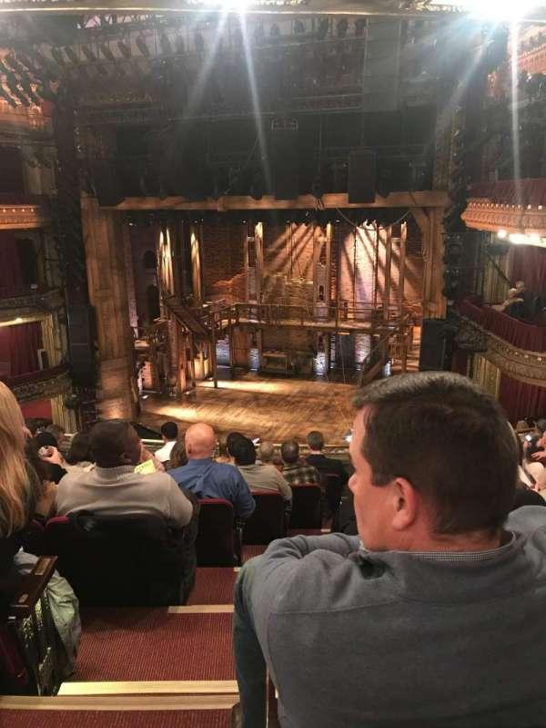 CIBC Theatre, secção: Balcony R, fila: H, lugar: 2