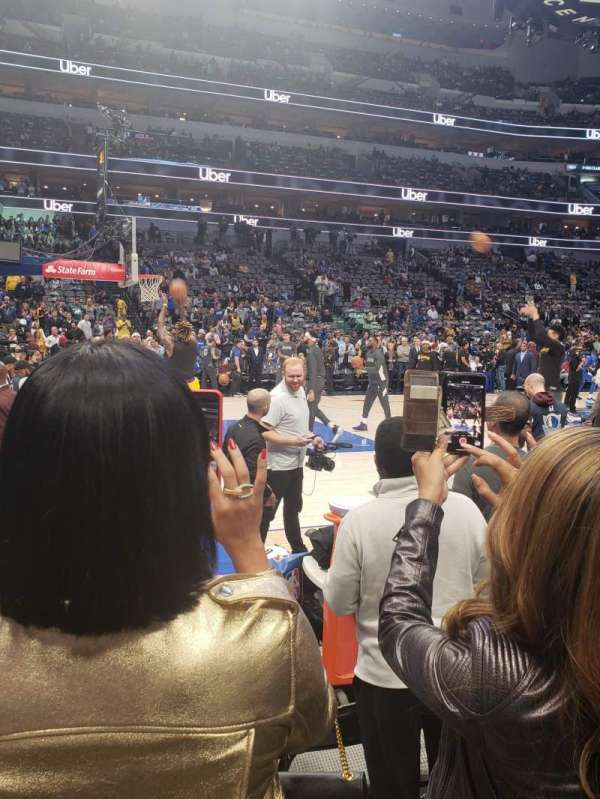 American Airlines Center, secção: 120, fila: B, lugar: 9